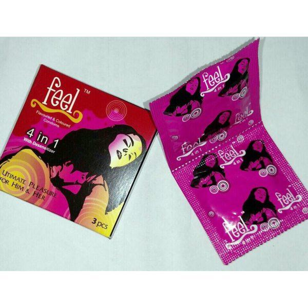 Bao Cao Su Feel 4 in 1 Hộp Nhỏ 3 Bao — Shop Bao Cao Su Đà Nẵng