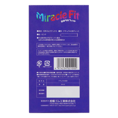 Bao cao su sagami Miracle Fitsiêu mỏng size nhỏ