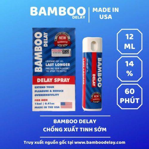 Bình xịt chống xuất tinh sớm Bamboo Delay